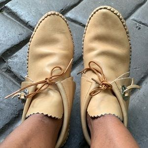 TAOS Authentic Leather Moccasin Booties Size 7-8